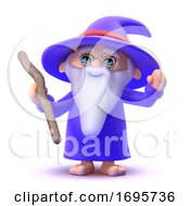 3d Wizard Casts A Spell