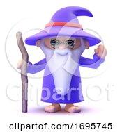 3d Wizard Waving
