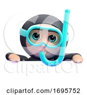 3d Snorkel Diver Blank Space