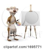Poster, Art Print Of 3d Meerkat Is An Artist