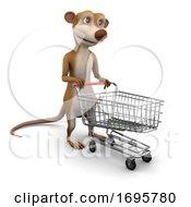 3d Meerkat Shopping