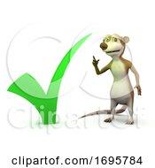 Poster, Art Print Of 3d Meerkat Tick