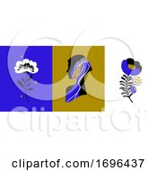 Vector Abstract Logo Design Templates In Trendy Minimal Style Of Female Portrait With Beautiful Woman Face And Flowers Elegant Emblem For Makeup Artist Beauty Clinic Or Fashion Studio