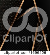Abstract Background With Black And Gold Design
