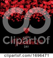 Poster, Art Print Of Decorative Valentines Day Background With Hearts Design