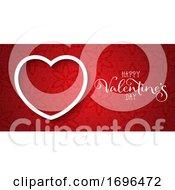 Decorative Valentines Day Banner With Elegant Design