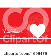 Poster, Art Print Of Valentines Day Background With Heart And Confetti