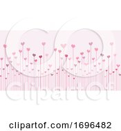 Poster, Art Print Of Valentines Day Banner With Abstract Hearts Design