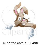 Poster, Art Print Of Easter Bunny Cartoon Sign