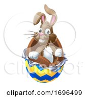 Poster, Art Print Of Easter Bunny Chocolate Egg Cartoon