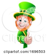 Leprechaun St Patricks Day Cartoon Sign