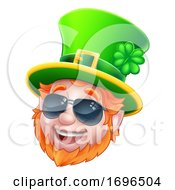 Cool Sunglasses Leprechaun St Patricks Day Cartoon