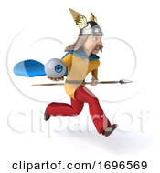 3d Gaul Warrior On A White Background