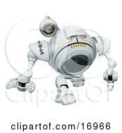 Technology Clipart Illustration Image Of A Robotic Webcam Walking