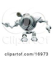 Friendly Robotic Webcam Waving Or Dancing