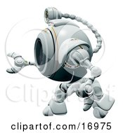 Technology Clipart Illustration Image Of A Robotic Webcam In Profile Facing To The Left