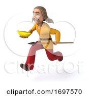 3d Gaul Man On A White Background by Julos