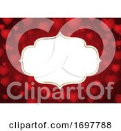 Valentines Day Background With Decorative Frame