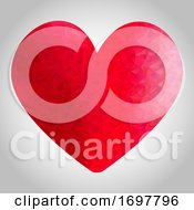 Poster, Art Print Of Low Poly Heart Design