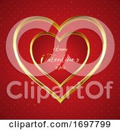 Elegant Valentines Day Background With Gold Hearts