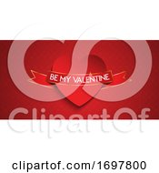 Poster, Art Print Of Elegant Valentines Day Banner Design
