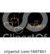 Elegant Happy Valentines Day Banner