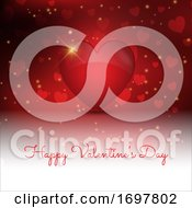 Decorative Valentines Day Background With 3D Style Heart