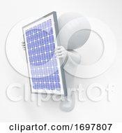 Poster, Art Print Of 3d Morph Man With Solar Panel