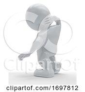 3D Morph Man Clutching Body In Pain