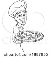 Pizza Chef Cartoon