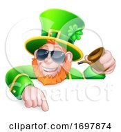Leprechaun St Patricks Day Cartoon Cool Sunglasses