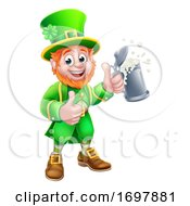 Leprechaun St Patricks Day Cartoon Character by AtStockIllustration