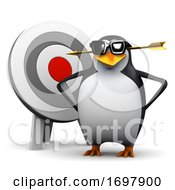 Poster, Art Print Of 3d Penguin By A Target