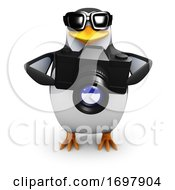 Poster, Art Print Of 3d Penguin Holding A Camera
