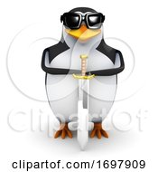 Poster, Art Print Of 3d Penguin With A Sword