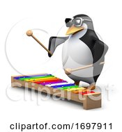 Poster, Art Print Of 3d Penguin Playing A Xylophone