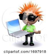 Poster, Art Print Of 3d Punk Laptop