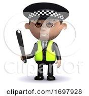 3d Police Truncheon Drawn