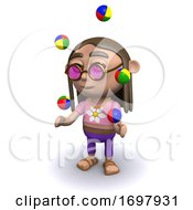 Poster, Art Print Of 3d Hippy Juggles