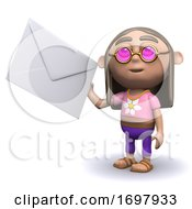Poster, Art Print Of 3d Hippy Has Mail
