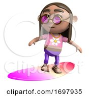 3d Hippy Surfboarder