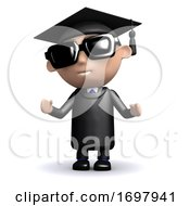 3d Graduate Wearing Sunglasses
