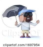 3d Sailor Dude Under An Umbrella