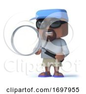 3d Sailor Dude Uses A Magnifying Glass