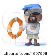 3d Sailor Dude Rescues A Drowning Person With A Life Preserver