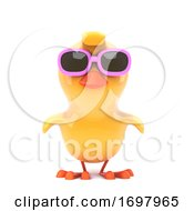 Poster, Art Print Of Chick Wearing Pink Sunglasses
