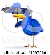Poster, Art Print Of 3d Bluebird Umbrella