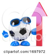 Poster, Art Print Of 3d Football Looks Up
