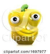 3d Puckering Yellow Pepper