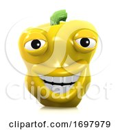 3d Smiley Yellow Pepper